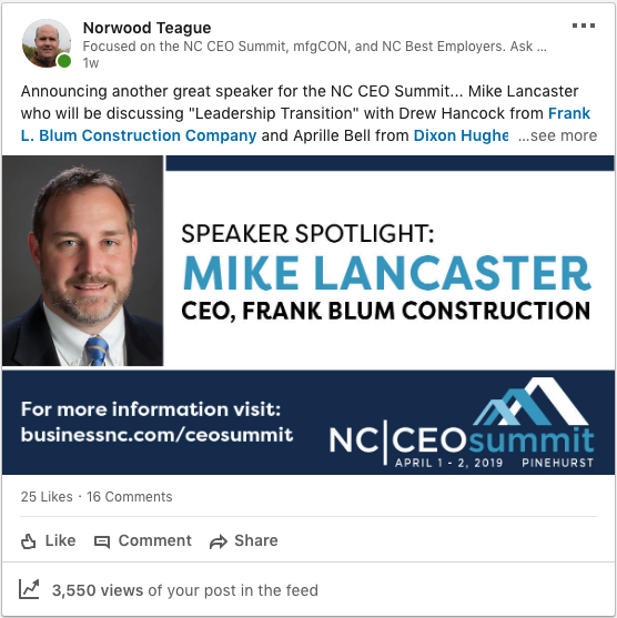 Norwood Teague LinkedIn